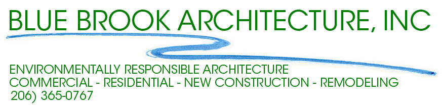 Blue Brook Architecture, Seattle area residential and commercial architects